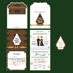 Wedding Invitation Traditional Indonesia