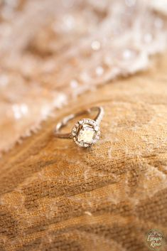 The hours leading up to my wedding were so nerve racking! We spent the morning getting ready at the Peppermill in Reno, Nevada. Check out this close up of my wedding ring! So pretty! Check out this post to see what my crazy morning was like! #McAninchWedding #RenoWedding Photos by McAuliffe Photography