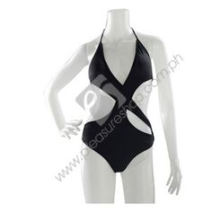 Marinela Swimsuit    Category: Swimwear Name: Marinela Swimsuit Model: PSMS1885 Manufacturer: Kurba  PHP1,200.00   Black with flesh cutouts, halter tie on top and back, one piece swimwear  Manufacturer: Kurba  Size: S/M  Materials: Spandex  Color: Black  Feature: 1 piece  http://www.pleasureshop.com.ph/sextoys/marinela-swimsuit.html