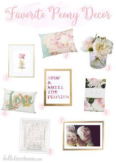 Celebrate spring with beautiful peony home decor