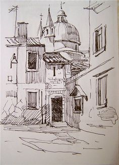 Home Decoration Stores Near Me Info: 7110514142 Sketchbook Drawings, Drawing Sketches, Art Drawings, Landscape Sketch, Landscape Drawings, Art Et Architecture, Pen Sketch, Urban Sketching, Pen Art