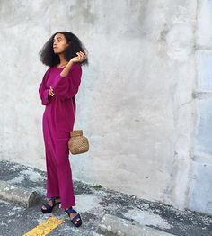 solange. Oversized sleeve top dress inspiration