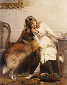 The Athenaeum - Sweethearts (Charles Burton Barber - )