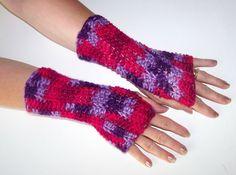 #Crocheted Fingerless #Gloves  Arm Warmers  #Mittens Multi by lotr01, $14.00