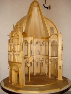 ROMANESQUE ARCHITECTURE, Italy - Model section of Baptistery, (The museum of Pisa Cathedral).