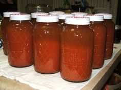 Canning V6 (Not V8) Juice. Use leftover pulp in dehydrator for vegetable powder for thickening and flavor.