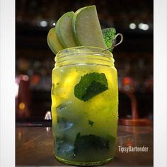 Apple Mojito Cocktail - For more delicious recipes and drinks, visit us here: www.TopShelfPours.com