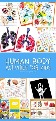 7 Interesting Human Body For Kids Crafts, Activities & More