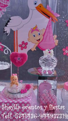 Decoración centro de mesa, Baby shower. Lima