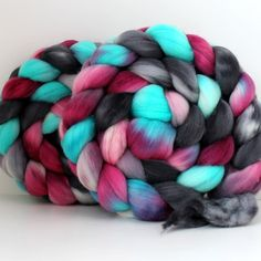 Merino+Roving++Hand+Painted++Hand+Dyed+for+by+SpunRightRound,+$16.00