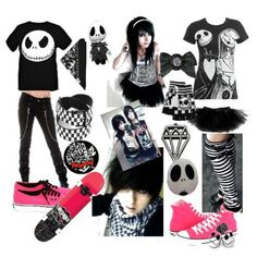 this is for you jack skellington lovers! or emo kids ether way it's cool Cute Emo Outfits, Scene Outfits, Punk Outfits, Mode Rock, Estilo Rock, Rocker Girl, Cooler Look, Scene Girls, Emo Girls