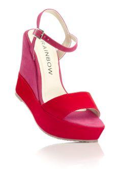 Keilsandalette rot/pink - RAINBOW online kaufen - bonprix.de