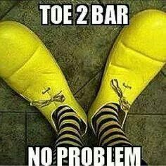 Toe 2 Bar. No problem. This is what I've been doing wrong!