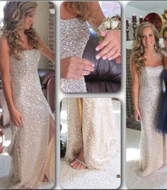 Sleeveless Slit Prom Dress,Backless Prom Dresses,Prom Gown,Evening Dress by fancygirldress, $239.00 USD