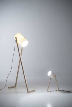 BOO lamps in ash with porcelain or Corian, by Hedda Torgersen. They provide light where you want it, but also apply playfulness and character that trigger your imagination and emotions.