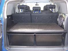 Toyota FJ Cruiser Forum rear interior storage bins and platform Fj Cruiser Mods, Fj Cruiser Forum, Toyota Fj Cruiser, Land Cruiser, Boot Storage, Car Storage, Storage Bins, Storage Ideas, Fj Cruiser Interior