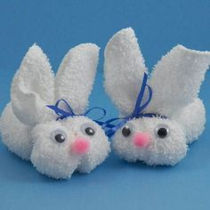 easter bunny washcloth craft - my Grandma used to send us these as children for Easter.