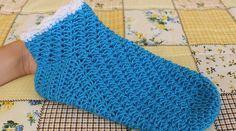Návod na háčkování dámských zimních ponožek
