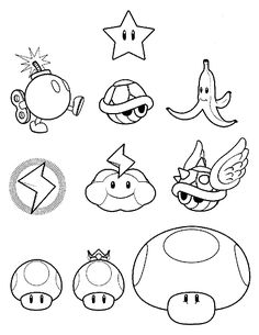 Super mario bros coloring pages 40 free printable for Mario kart ds coloring pages