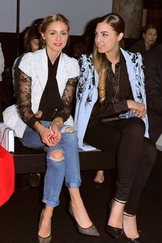 Olivia Palermo and Amber Le Bon.. PFW..... - Celebrity Fashion Trends