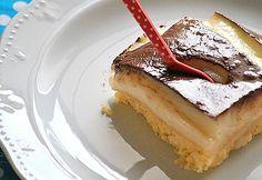 Greek Sweets, Greek Desserts, Cold Desserts, Greek Recipes, Breakfast Recipes, Dessert Recipes, Custard Cake, Happy Foods, Amazing Cakes