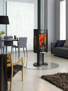 Jotul F 373 Mit Drehgelenk Feuerstelle, Küche Ess Wohnzimmer, Moderner Kamin,  Kamine,