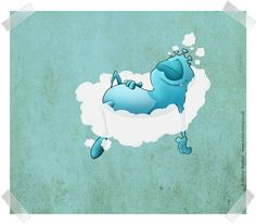This eejit likes nothing better than floating away on a cloud, blissfully unaware of others or itself really.