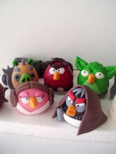 Angry birds - Star Wars - fondan figurine (cake toppers) https://www.facebook.com/pages/Figurice-Od-Fondana-Za-Torte/486638904735016
