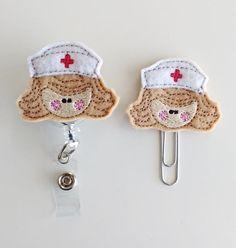 Nurse Badge Reel | ID Badge | Felt Nurse Badge | Medical Badge Holder | Medical Lanyard | Bookmark | Planner Clips | Nurse ID Badge | RN