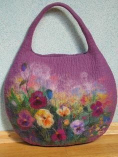 Pansies many beautiful felt works for inspiration!