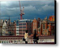 Blackfriars Bridge View Canvas Print / Canvas Art By Dorothy Berry-lound #london  #interiordecor #printforsale