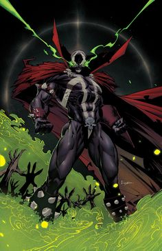 Spawn by Danny Kim Spawn Characters, Image Comics Characters, Comic Book Characters, Comic Character, Comic Books Art, Spawn Comics, Batman Comics, Batman Art, Marvel Art