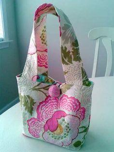 little girl gift tote bag simple sew tutorial link & filler ideas