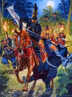 The night attack at Shizugatake, 1583