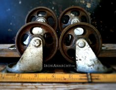 Antique casters from IronAnarchy.com