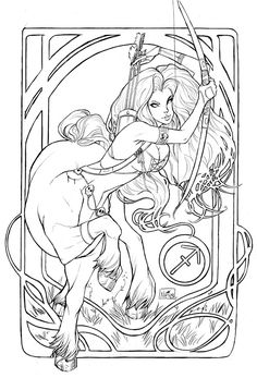 Lady Death Sagittarius (Sketch) #LadyDeath (Cover Artist: Nei Ruffino)