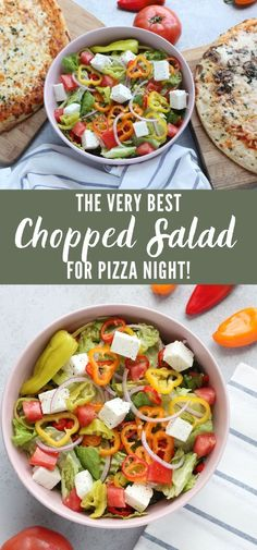 Pizza Side Dishes, Pizza Sides, Healthy Side Dishes, Side Dish Recipes, Healthy Salad Recipes, Vegetarian Recipes, Pizza Recipes, Yummy Recipes, Yummy Food