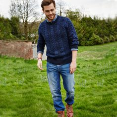 Cherokee Mens Cable Jumper and Jeans