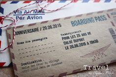 Invitation / faire-part / Boarding pass ANNIVERSAIRE thème VOYAGE Faire Part Invitation, Invitations, Etsy, Weddings, Save The Date Invitations, Shower Invitation, Invitation