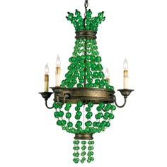 Currey & Co  green glass , love it.