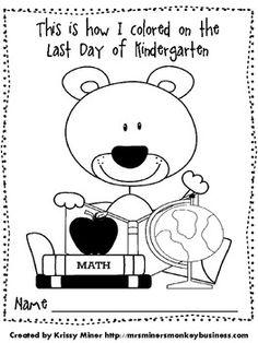 Free Back to School Assessment for Kindergarten