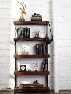 Raum mit DIY Bücherregalen holz buch idee