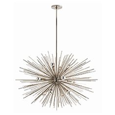 "Zanadoo Large ChandelierZanadoo Large ChandelierFrom Arteriors $2,880.00  ZANADOO LARGE CHANDELIER DIMENSIONS: 36"" Width x 33 - 45"" Height Adjustable - SMALL $1,920.00 29"" Width x 27 - 45"" Height Adjustable ALSO at Lightopia & ClaytonGray Home"