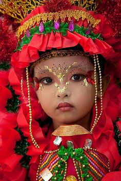 Costumed little girl, Jember Fashion Carnival, Jember, East Java, Indonesia.what a beautiful girl.