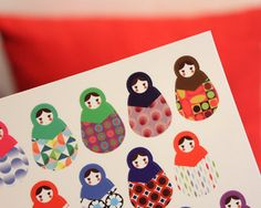 Russian Doll Stickers