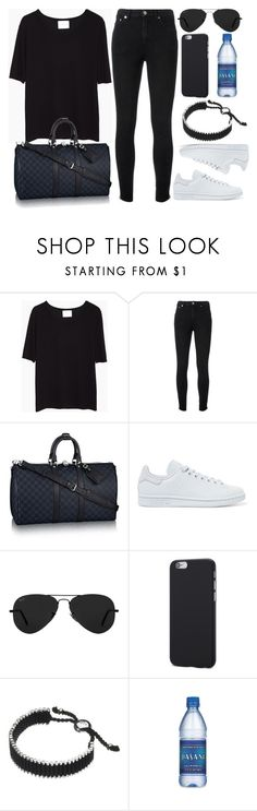 """Style #11161"" by vany-alvarado ❤ liked on Polyvore featuring La Garçonne Moderne, Yves Saint Laurent, adidas Originals, Ray-Ban and Links of London"