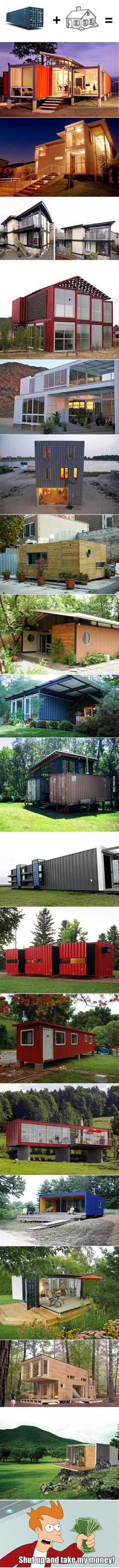 I considered a container cottage in the past. With these designs, this might be in my future.
