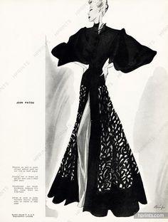 Jean Patou 1938 Evening coat, Léon Bénigni