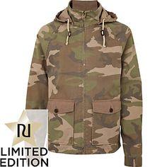 USA's away colors Fashion Killa, Dapper, Camouflage, Military Jacket, Hooded Jacket, Hoods, Stone, My Style, River Island
