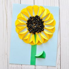 "338 Likes, 14 Comments - Rachel | I Heart Crafty Things (@iheartcraftythings) on Instagram: "" Who else loves sunflowers?  I love the dimensions created in this pretty sunflower craft with…"""